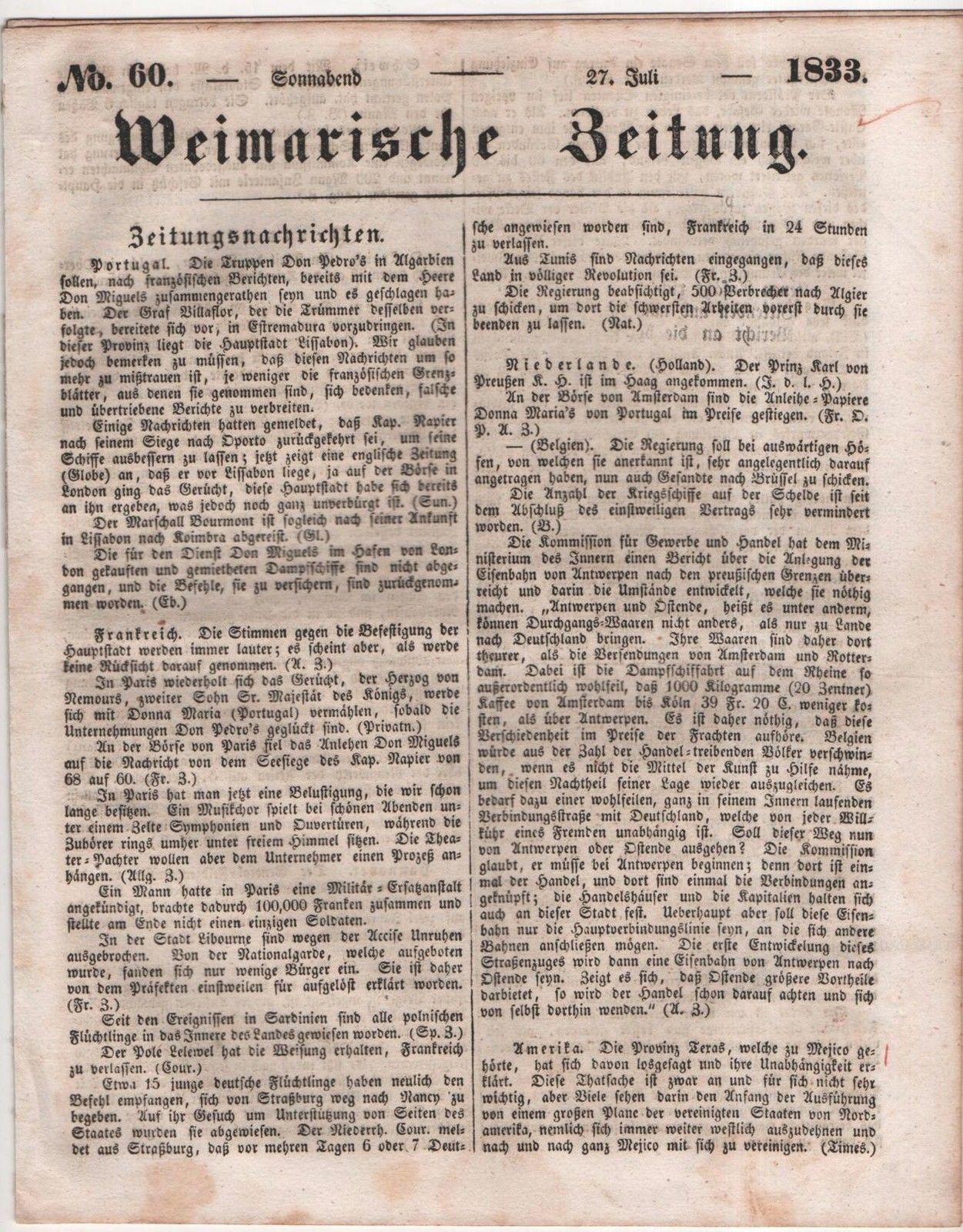 Weimarische Zeitung