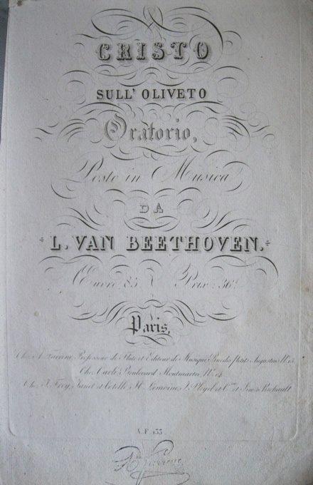 Beethoven e l' Italia: Il Cristo sul monte degli Ulivi