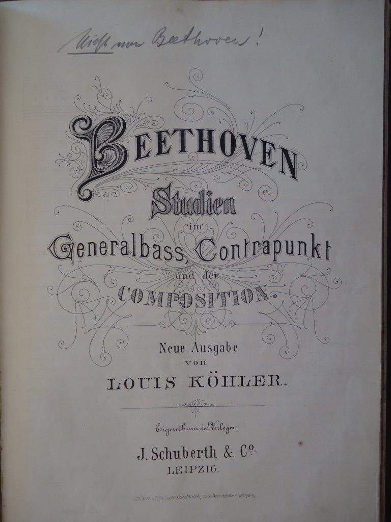 Beethoven Studien im Generalbass, Contrapunkt und der Composition – Neue Ausgabe von Louis Köhler