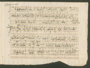 """Abschrift Salieri """"Les Danaides"""""""