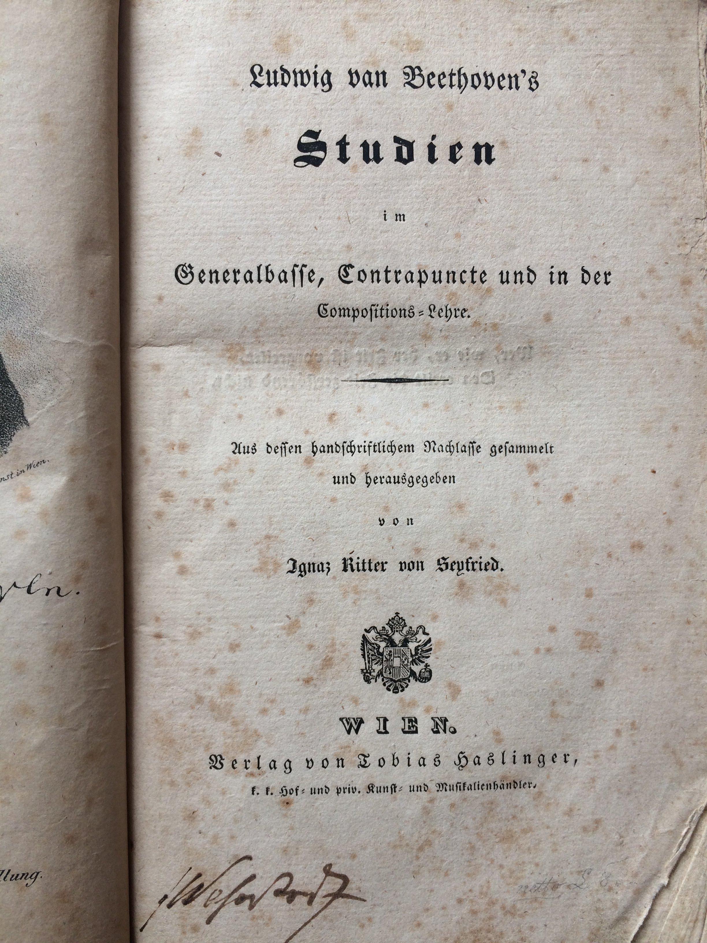 Ludwig van Beethoven's Studien im Generalbasse, Contrapuncte und in der Compositions-Lehre