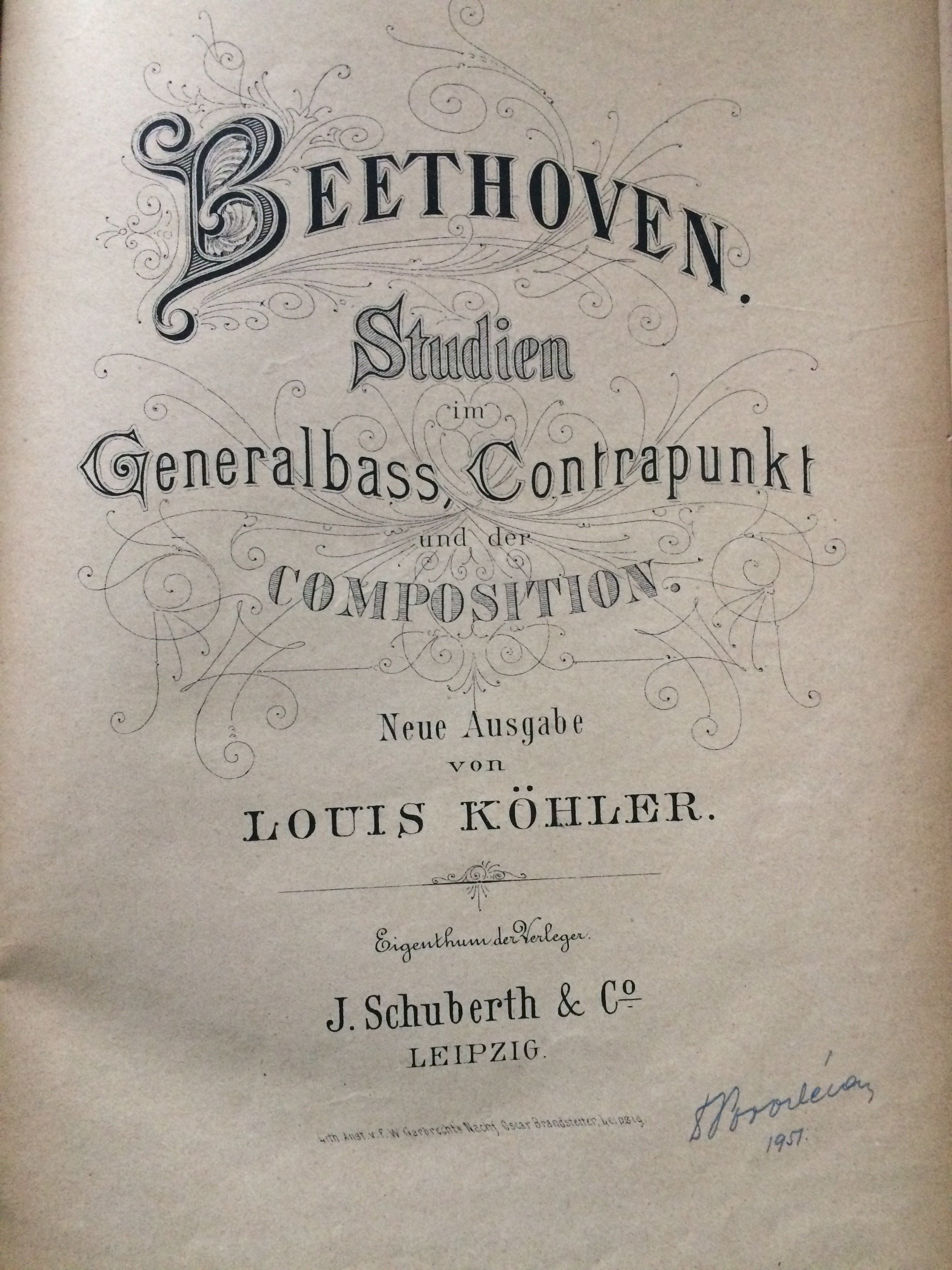 Beethoven Studien im Generalbass,