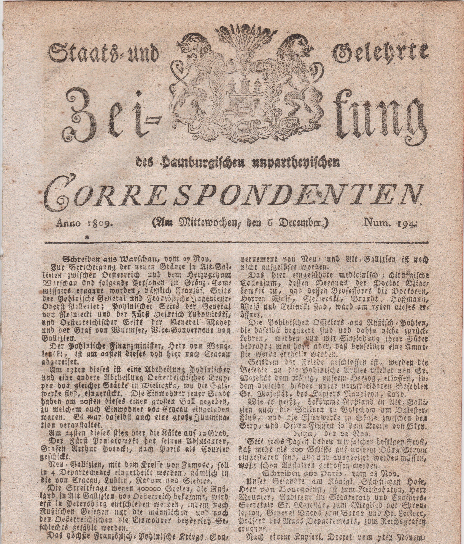 Staats und Gelehrte Zeitung
