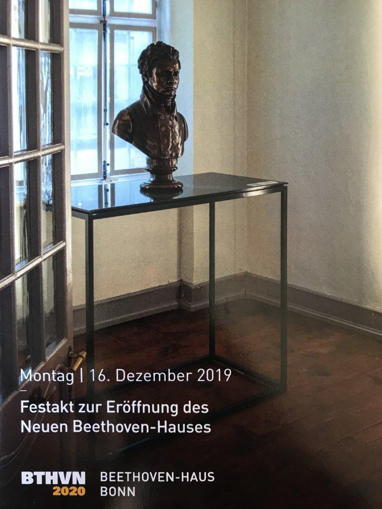 L' inaugurazione della nuova Beethoven Haus a Bonn, 16-17 Dicembre 2019 a cura di Luigi Domenico Bellofatto