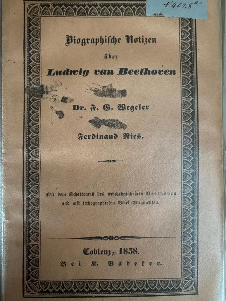 Wegeler, Franz Gerhard - Ries, Ferdinand :