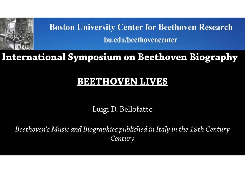 Luigi Bellofatto presente alla conferenza beethoveniana di Boston